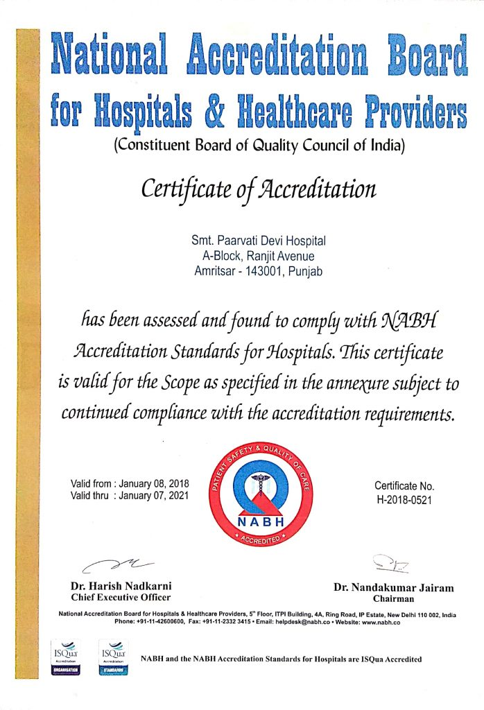 NABH Accredited Hospital in Amritsar